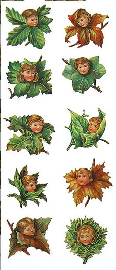 Leaf children stickers