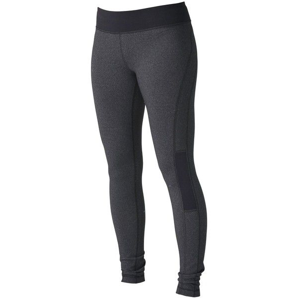 Roxy Standard Running Tights ($44) ❤ liked on Polyvore featuring activewear, activewear pants, pants, bottoms, leggings, sport, jeans, blue, yoga activewear and logo sportswear