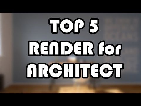 Render software for Architect - YouTube