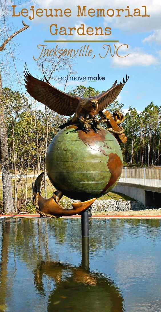 Lejeune Memorial Gardens in Jacksonville, NC (USA) honors generations of military heritage through a series of beautifully designed memorials open to the public. via @eatmovemake