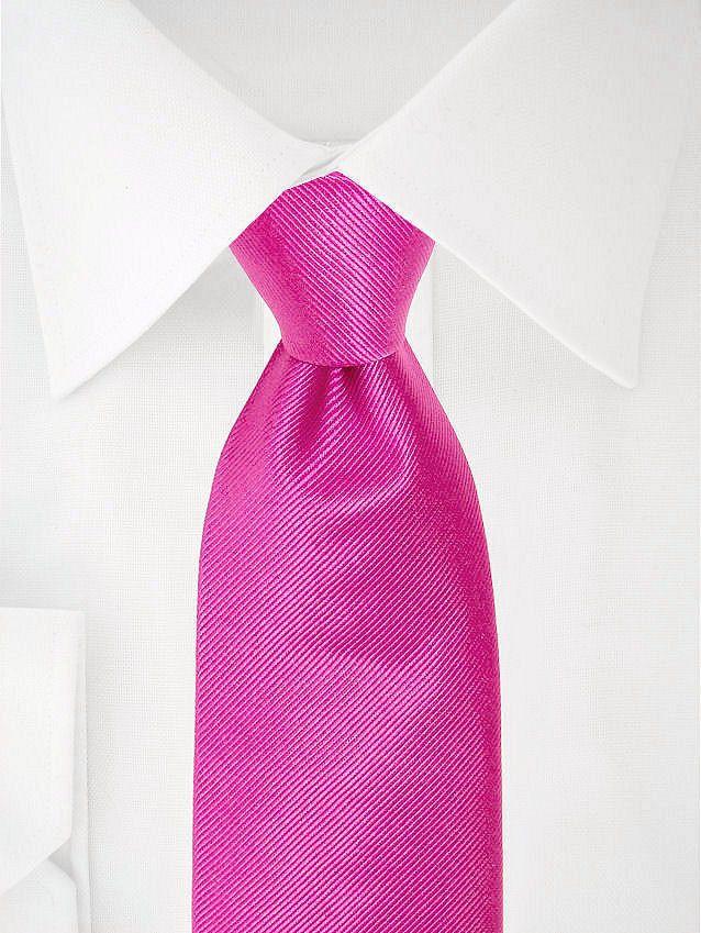Cravate rose fushia à deux tons à 7 plis