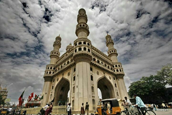 Cloudy view of charminar ..