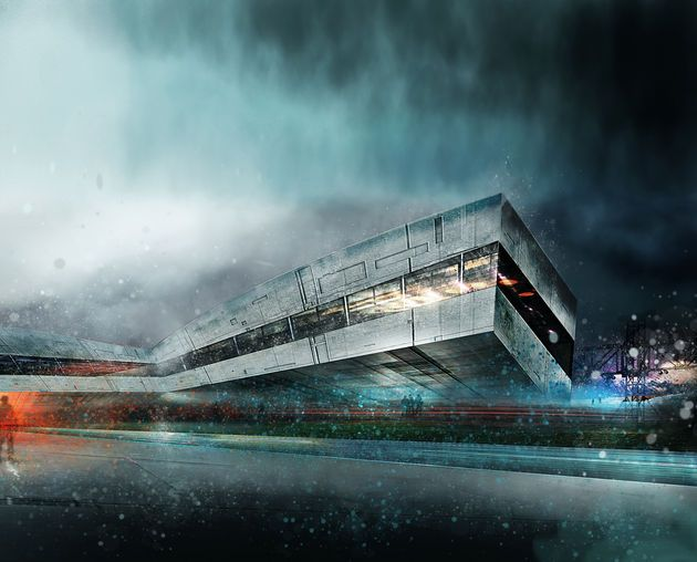 17 best images about rainy day exterior render image