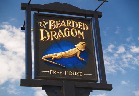 Bearded Dragon Pub Sign in Tambourine Mountain, Queensland | Danthonia Designs. See more of our pub signs on our website.