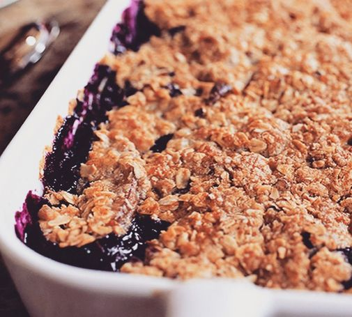 Nectarine-Berry Crisp | Recipe | Berries, Recipe and Berry crisp ...