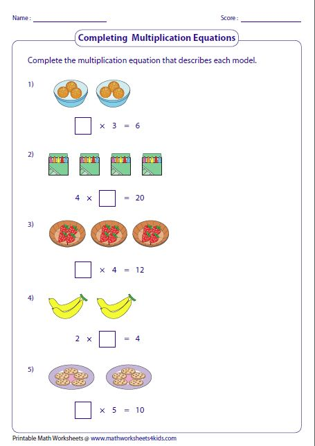 completing multiplication sentences equal groups education pinterest multiplication. Black Bedroom Furniture Sets. Home Design Ideas