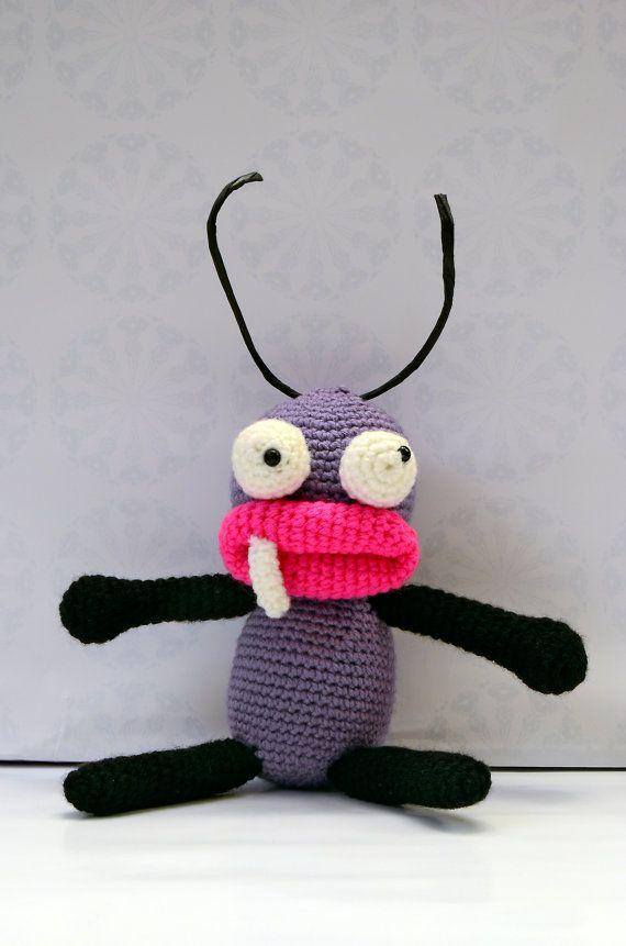 Parea de hormigas realizadas en amigurumi por VILLAGUANGUITO