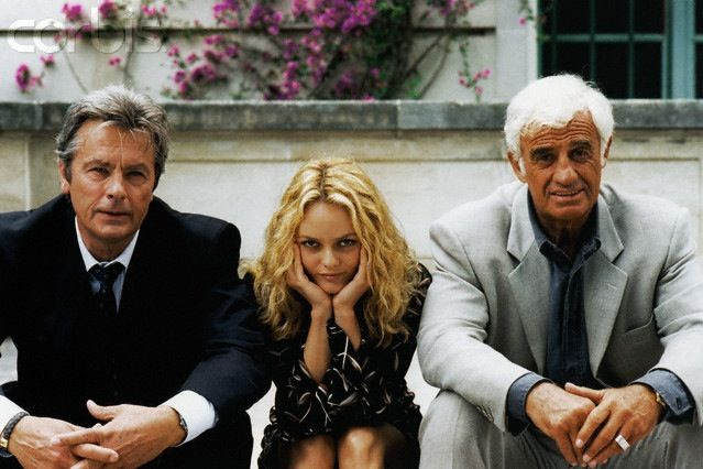 Promotional still for Half a Chance (1998, aka Une Chance sur Deux), with Jean-Paul Belmondo and Vanessa Paradis