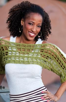 Two-Tone Shrug by the Double Stitch Twins (free pattern)