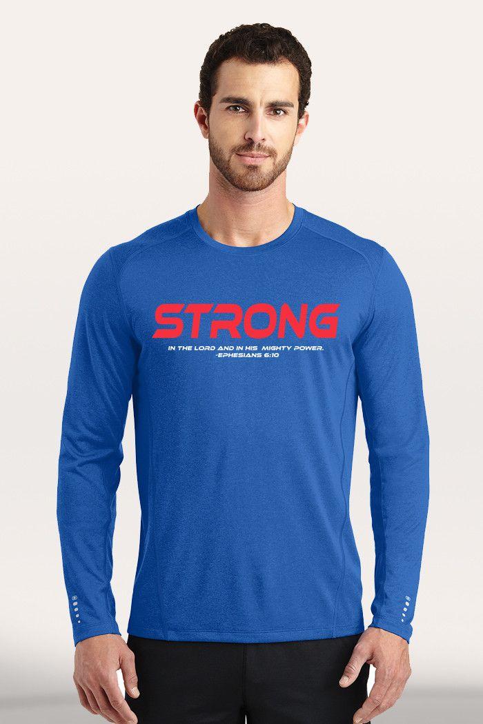 Strong Men's Active Long Sleeve - Blue