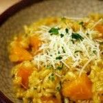 Autumn Risotto, just use a vegetarian cheese option.