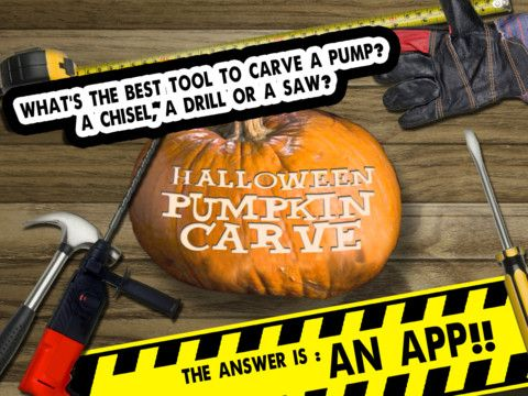 Carve Pumps HD - Make your own halloween pumpkin  2011 halloween special iPad Screenshot 1 found on AnyKey.Com