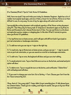 [For Dummies] IPad 2 Tips & Trick: Notes 101 Guidelines