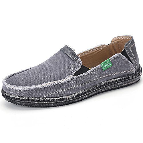 Compare prices of Fheaven Womens Leather Cowhide Flat Boat Shoes Hollow Out Casual Slip on Driving Loafer Shoes (US:9, blue) on Price Checker Canada