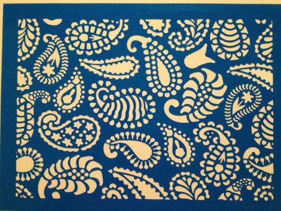 Mehndi Cake Stencil : Mehndi paisley cake stencil decorating stencils