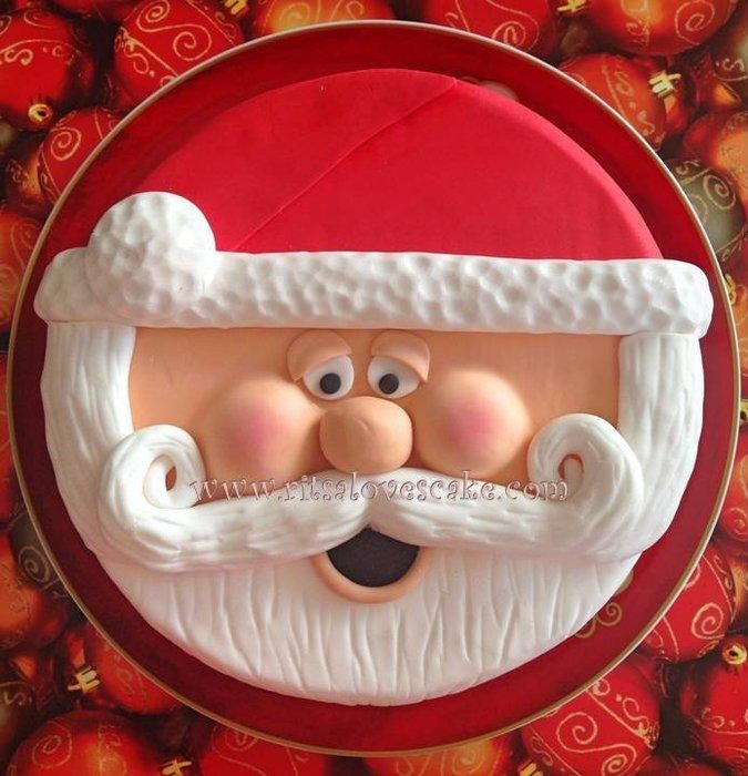 Santa Face - Cake by Ritsa Demetriadou                                                                                                                                                                                 More