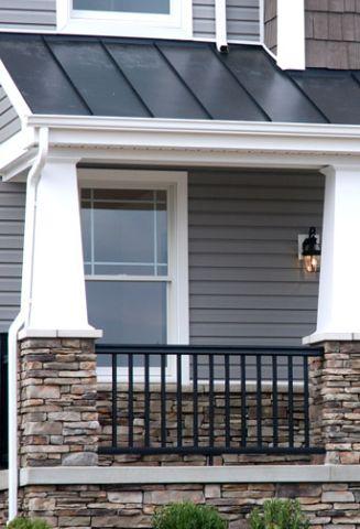 Porch Detail with Stone Detail - Augusta Craftsman Elevation