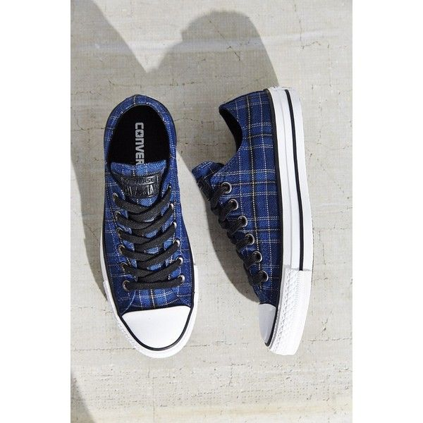 Converse Chuck Taylor All Star Plaid Low Top Sneaker (235 MYR) ❤ liked on