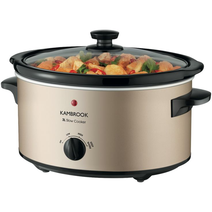 Shop Online for Kambrook KSC300CMP Kambrook 3L Slow Cooker - Champagne and more at The Good Guys. Grab a bargain from Australia's leading home appliance store.