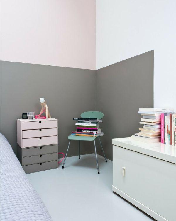 Les jeudis graphiques peindre ses murs à moitié les couleurs de peinturemélanger