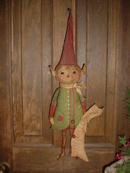 PatternMart.com ::. PatternMart: PM Primitive Christmas ELF doll #90 E-pattern