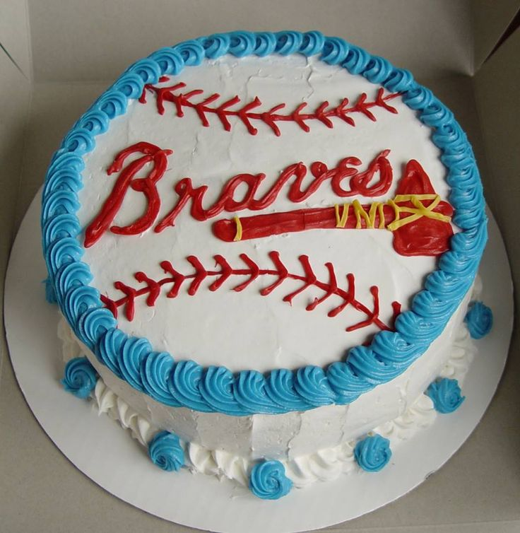 Atlanta Braves Baseball cake from Truly Great Cupcakes https://fbcdn-sphotos-b-a.akamaihd.net/hphotos-ak-ash3/942795_385462888238195_1689927523_n.jpg