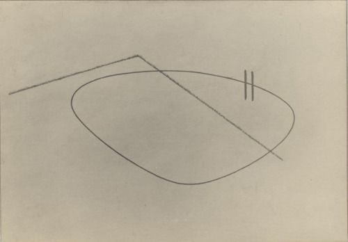 thenoguchimuseum: Isamu Noguchi Line Drawing of Abstraction in...