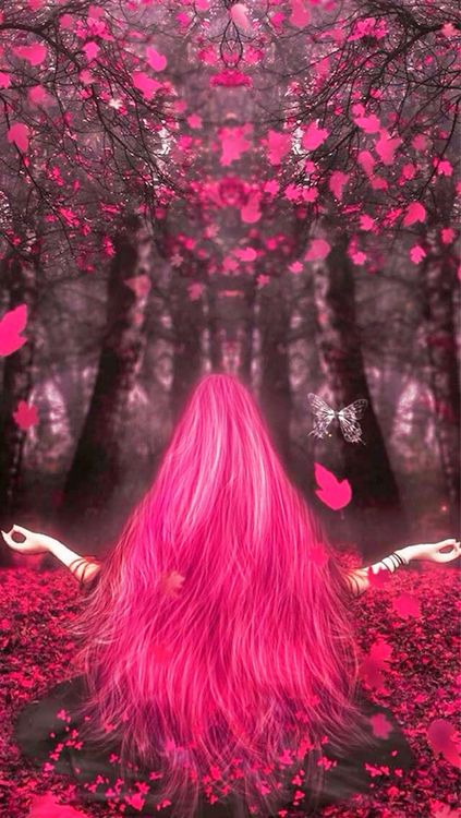 OH SO PRETTY IN HOT PINK image...for the Goddess in you
