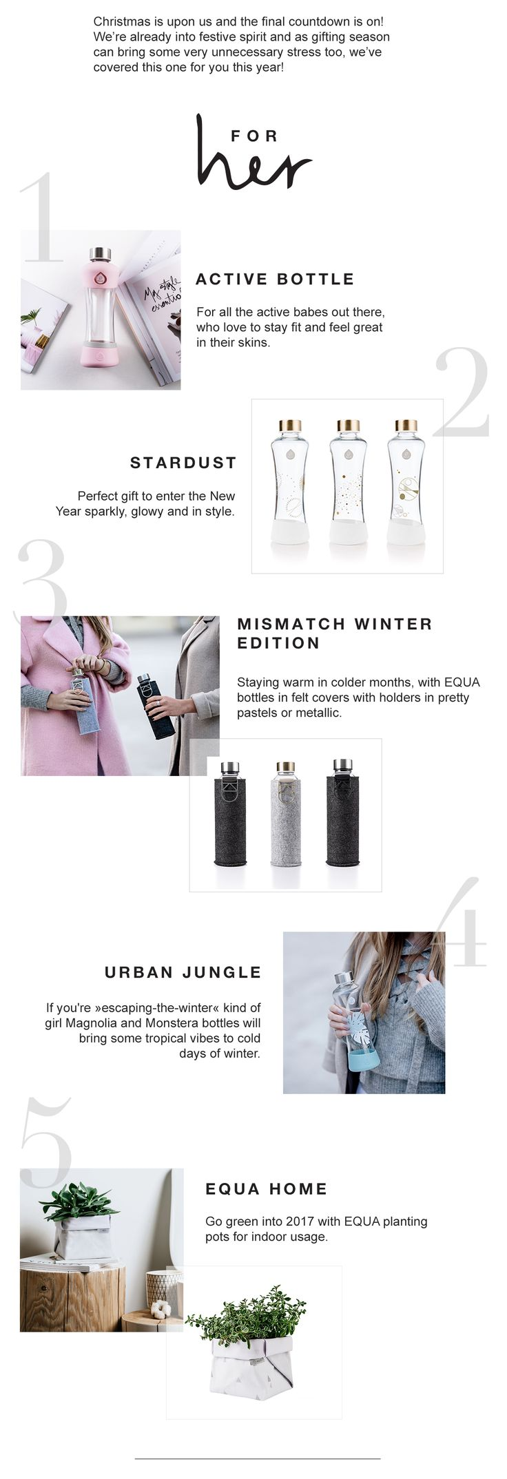 Christmas gift ideas for HER & HIM | EQUA