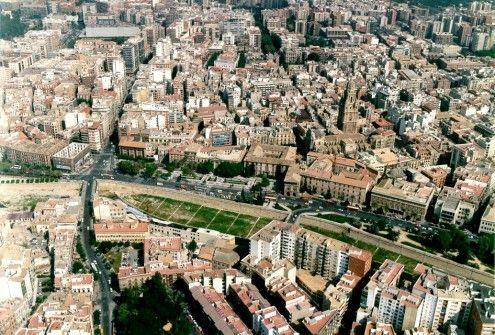 Vista aérea: La Glorieta y el Centro de Murcia. Gerencia de Urbanismo
