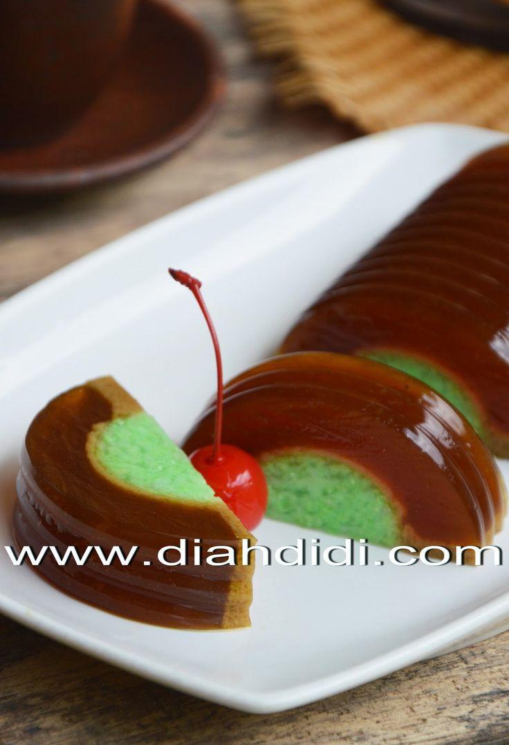 Diah Didi's Kitchen: Puding Tape Ketan Hijau Lapis Gula Merah