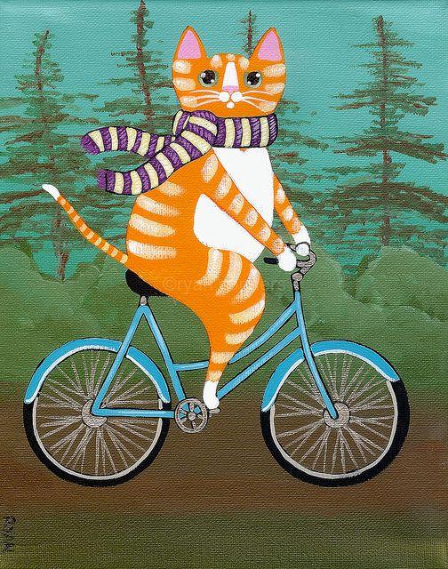 Прикольные животные на велосипеде картинки