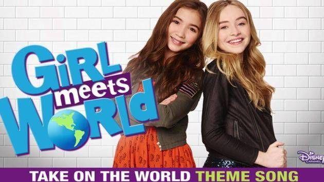 "Listen to Sabrina Carpenter & Rowan Blanchard perform ""Take On the World,"" the Girl Meets World theme song."