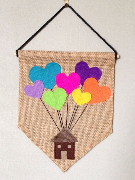 Heart Balloons Wall Hanging Balloon Banner by ConfettiMeMelbourne