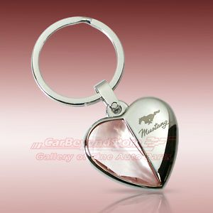 ford mustang purse | Ford-Mustang-Clear-Crystal-Heart-Key-Chain-Keychain-Key-Ring-Licensed ...