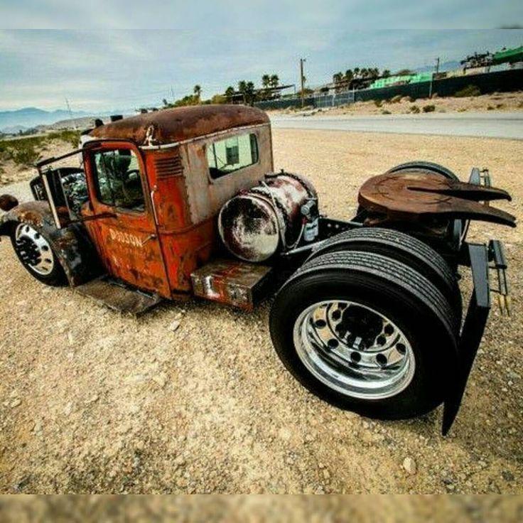 Mack Truck Rod Before And After: Diesel Rat Rod, Rat Rod Cars, Trucks