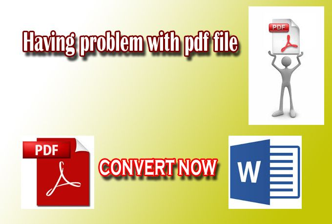 convert your pdf document to word, excel or make fillable or re edit your pdf document
