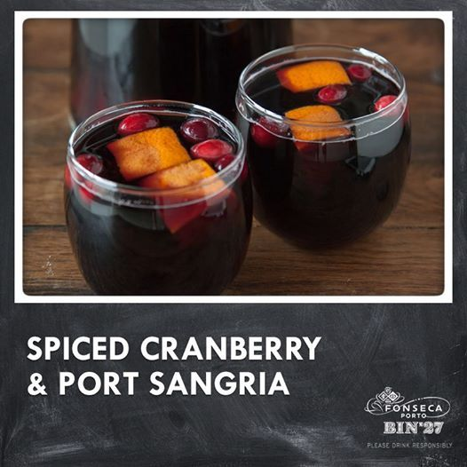 Spiced Cranberry Sangria made with port wine, cranberries, apples and ...