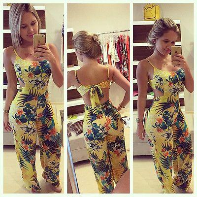 Lady Clubwear Summer Tuta Aderente Del Partito Tuta e Pagliaccetto Pantaloni Taglia S alla XL