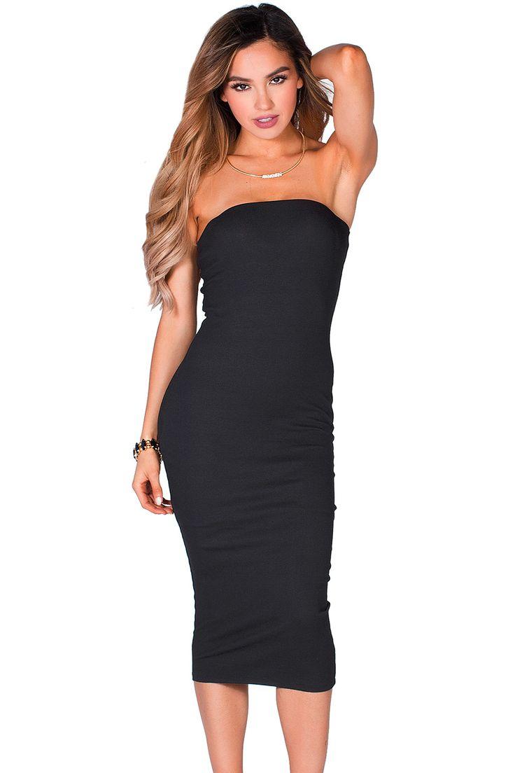 25+ cute Black tube dress ideas on Pinterest   Black tube ... - photo#25