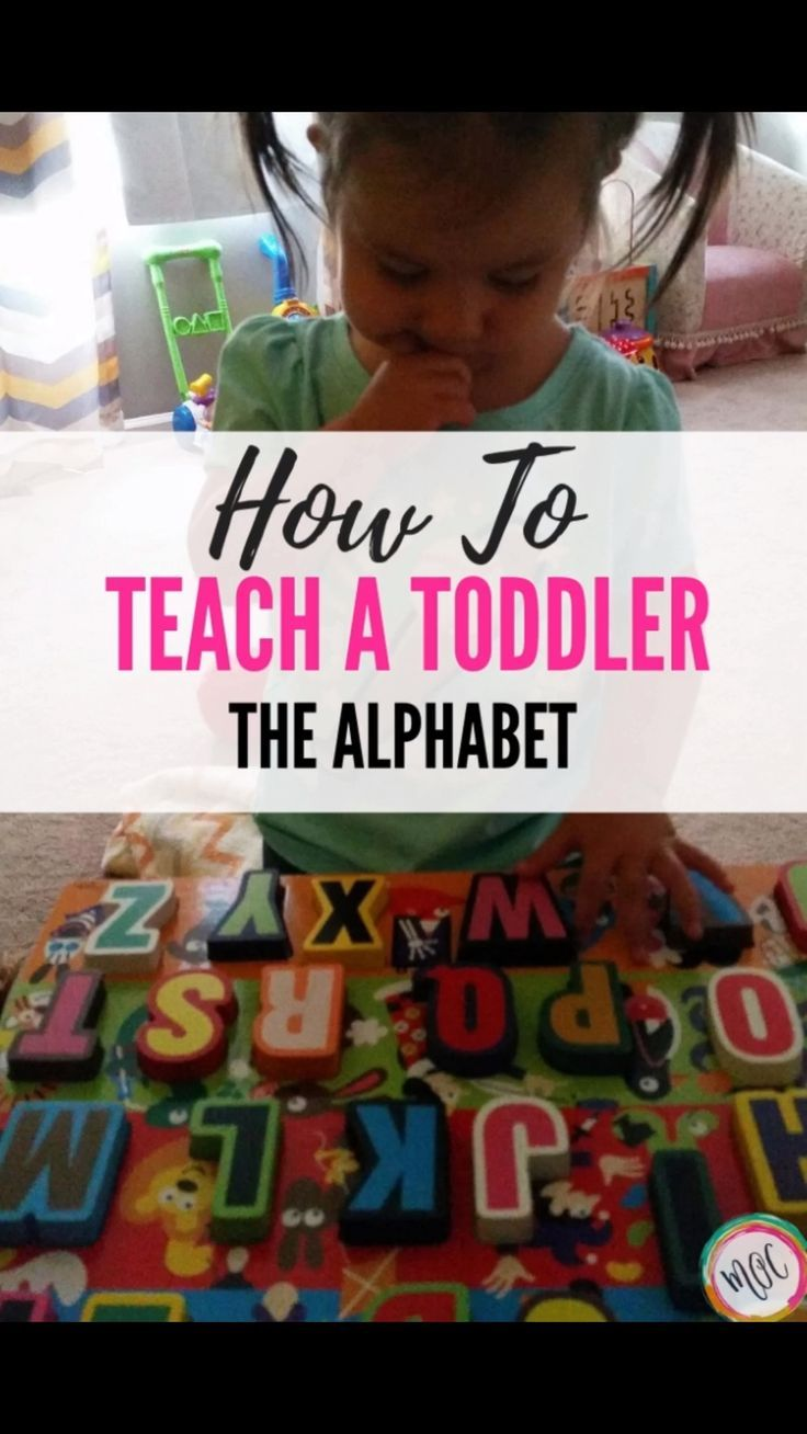 TEACHING THE ALPHABET: 1.5 years old