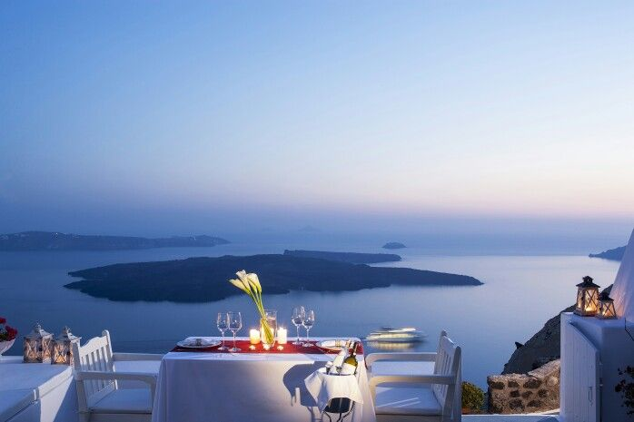 The perfect setting for your romantic atmosphere at #Santorini is ready for you to enjoy!  (See more at http://www.gastronomysantorini.com and http://www.candlelightdinnersantorini.com)
