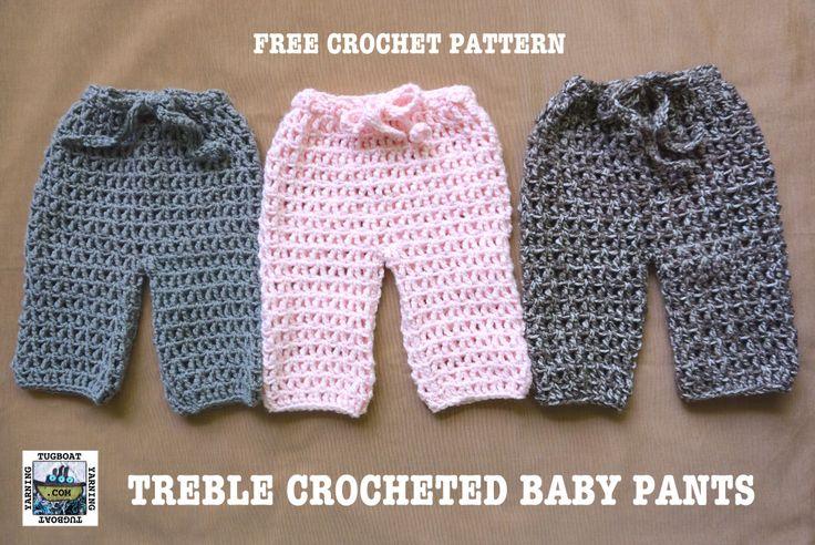Crochet baby pants free pattern
