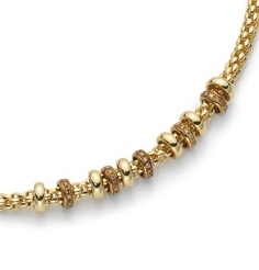 Flex'It Solo necklace in gold and diamonds.