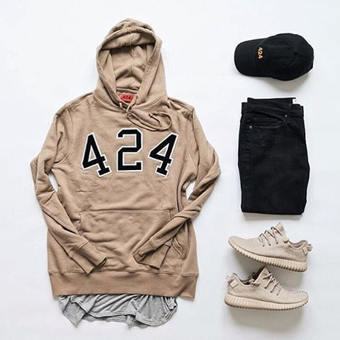 """WEBSTA @ wdywt -  or : #WDYWTgrid by @myvipsneakers#mensfashion #ootd #outfit: #424 #Jaefields: #Frame: #Adidas #YeezyBoost 350 """"Oxford Tan""""#WDYWT for on-feet photos#WDYWTgrid for outfit lay down photosHit link in bio to purchase•"""
