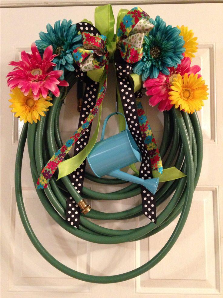 26 best garden hose wreath images on pinterest garden for Garden hose idea