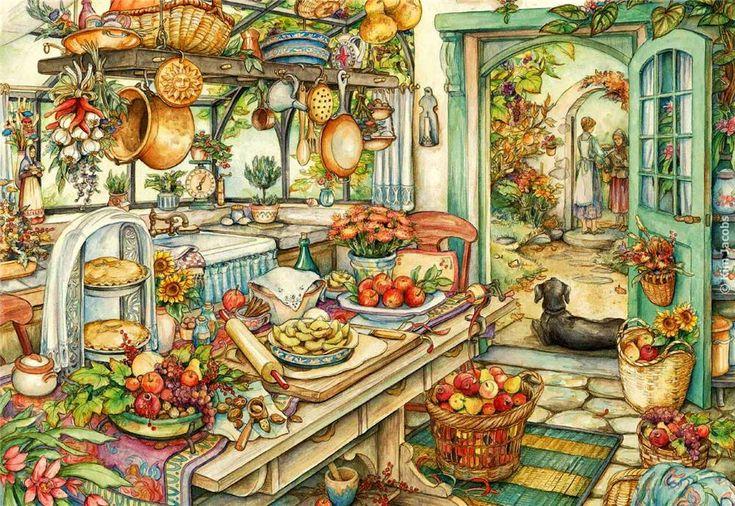Уютные картины от Kim Jacobs. Обсуждение на LiveInternet - Российский Сервис…