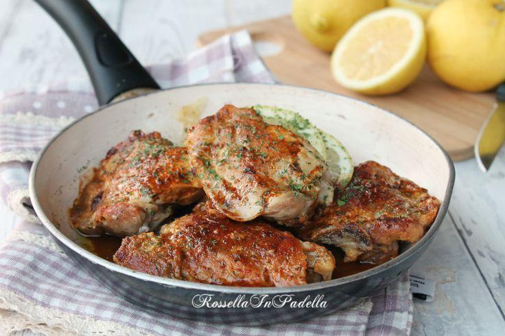 Pollo rustico al limone. ricetta semplice e molto gustosa, ideale per tutta la famiglia. Dal fresco sapore di limone, è un piatto molto economico