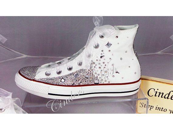 Crystal Converse / Wedding converse / bridesmaid converse / customised converse / lace converse / sparkle / delicate / romantic