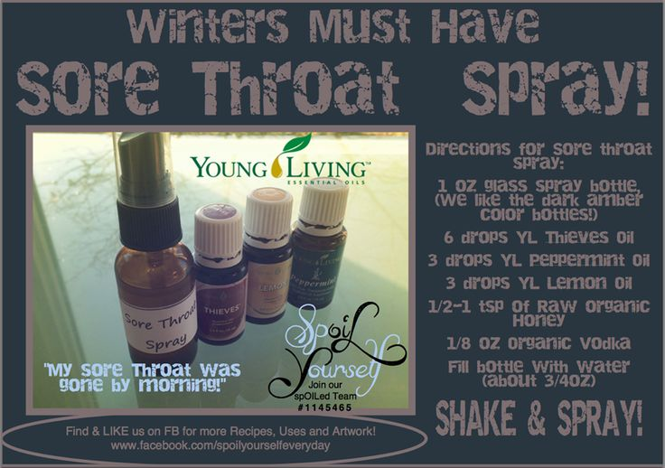 Throat spray young living essential oils and living essential oils on